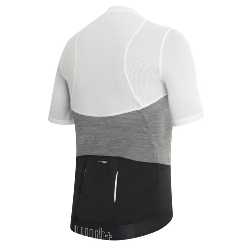 Wool AirX Jersey white-melange grey